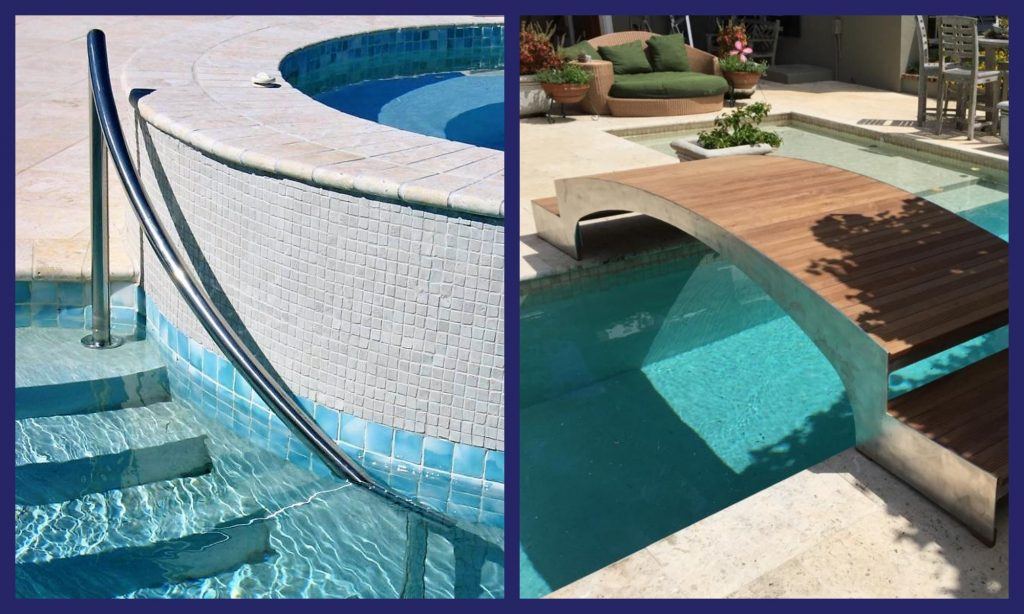 customized pool features
